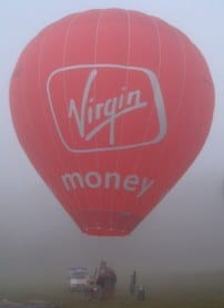 Virgin Money Hot Air Balloon in testing