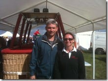 Crew Rebecca with Paul Bonhomme current World Champion of the Red Bull Air Race World