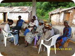 Tatiana interviewing local women in East Cameroon