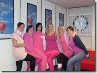 Some of the girls looking hot in pink!
