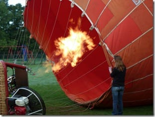 Inflation of the balloon