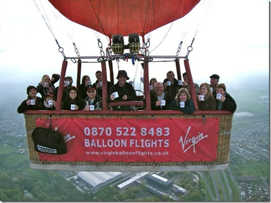 Virgin Balloon Flights tweetfortea