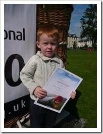 Craig with his certificate