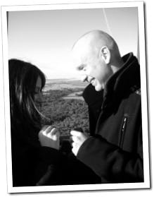 Popping the question, Lee & carly at 3000ft