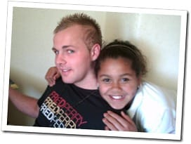 Danny Reynolds with his sister Tia