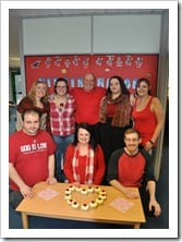 VBF Staff all wearing RED