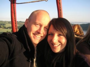 Carly and Lee got engaged onboard one of our balloons above the Hampshire countryside
