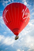 Full shot of balloon in the air by Tom Arber