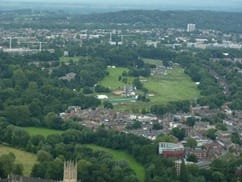 Torch Relay Event from Hot Air Balloon