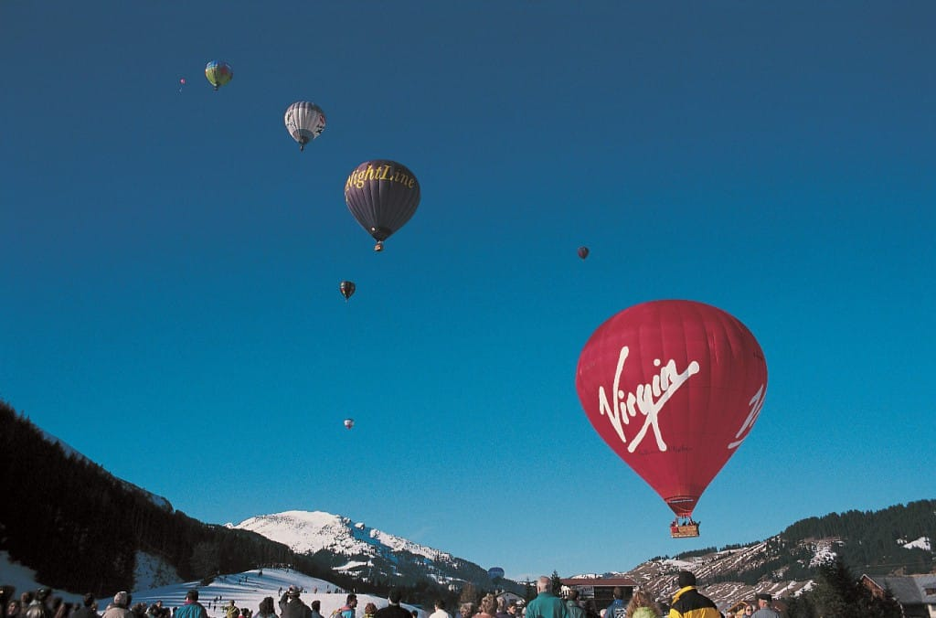 Virgin balloon in Italy