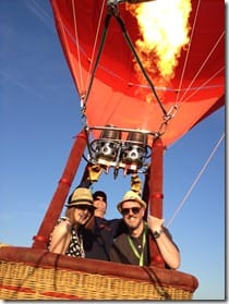 Guests enjoy a tethered balloon ride
