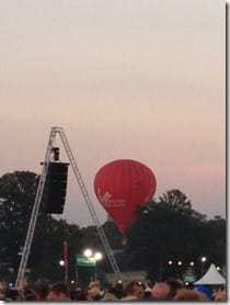 Virgin balloon by the Main Stage