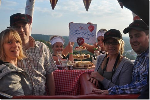 Virgin Ballon Flights Tea Party in the Sky at Bristol Balloon Fiesta