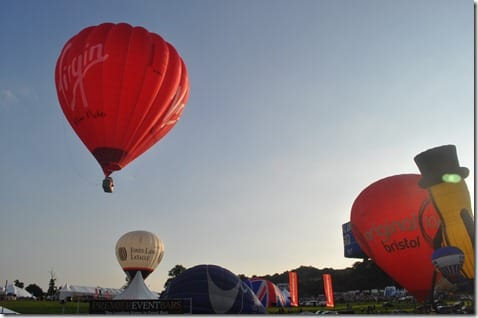 The virgin balloon at Bristol Balloon Fiesta