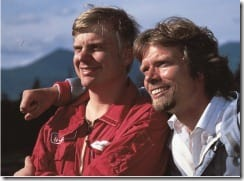 Sir Richard Branson with Per Lindstrand (courtesy of Virgin Books)