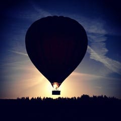 Sunrise balloon flight from Witton Castle, County Durham by Neil Marshall