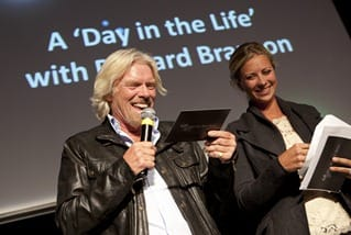 Richard Branson talking at Stars of the Year Event
