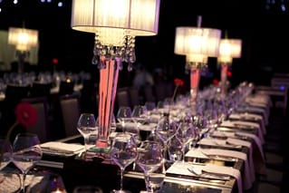 Table set at Stars of the Year Event