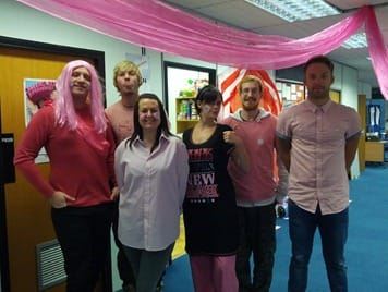 VBF Team wear it pink for BCC