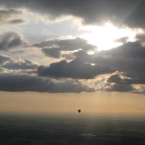 Misty hot air balloon shot by Kate Williams