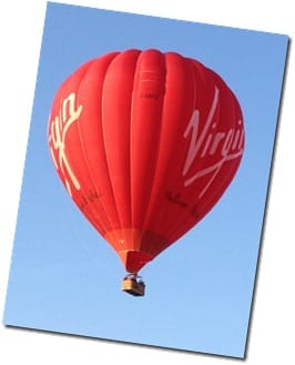 Virgin Balloon over Evesham