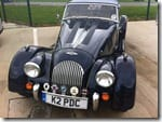 Classic Morgan car at Silverstone Classic Media Day
