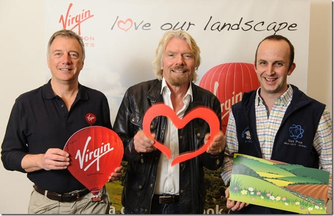 Love Our Landscape Launch - Virgin Balloon Flights
