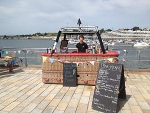 The balloon basket bar doing its bit for River Cottage - copyright Richard Prowse