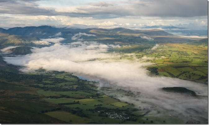 Amazing picture of the Ullswater Valley in a hot air balloon flight by (Joe Stockdale)