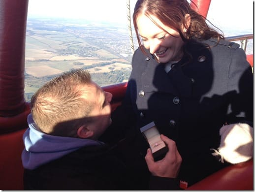 Virgin Balloon Flights engagement