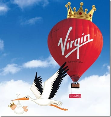Virgin Balloon Flights Royal Baby