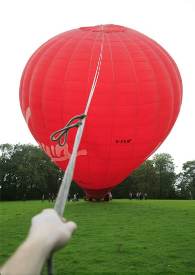 Crewing a balloon flight
