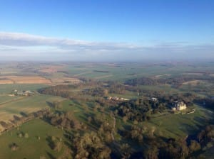Views from hot air balloon ride of Staffordshire