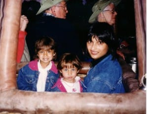 Shilpa and the girls as children.