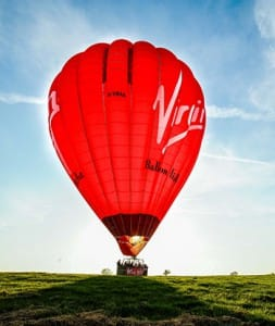 The newest addition to The Virgin Balloon Flights fleet in all its evening sun-drenched glory. Photo credit Shropshire Star – please do not reproduce without permission.