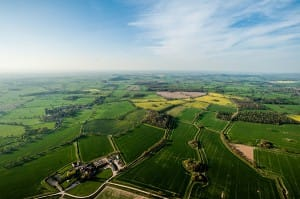 The glorious Shropshire countryside from 3,000 feet up. Photo credit Shropshire Star – please do not reproduce without permission.