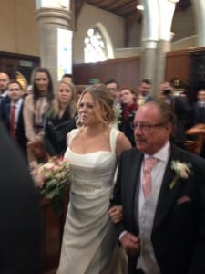 dad walks daughter up the aisle