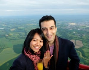 A dream come true for Dessy, who always wanted to be proposed to on a hot air balloon flight.