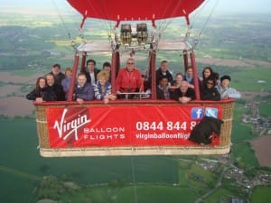 balloon flight over Cheshire