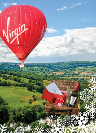 Make someone's Christmas with a hot air balloon ride.
