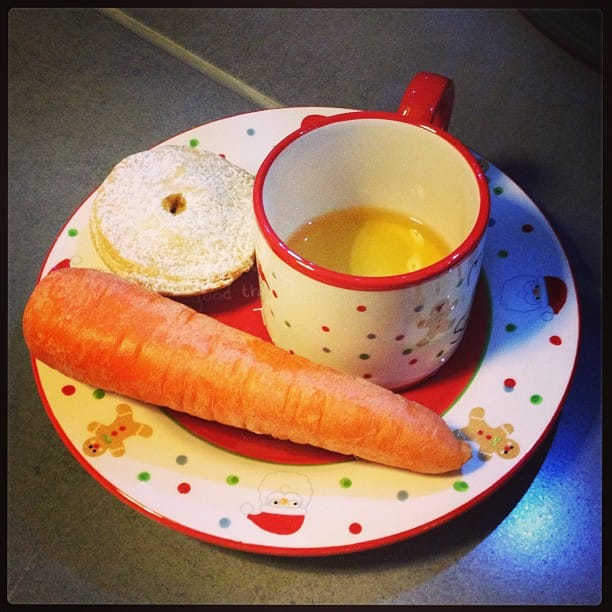 Don't forget to leave Father Christmas and his reindeer a tasty snack on Christmas Eve.