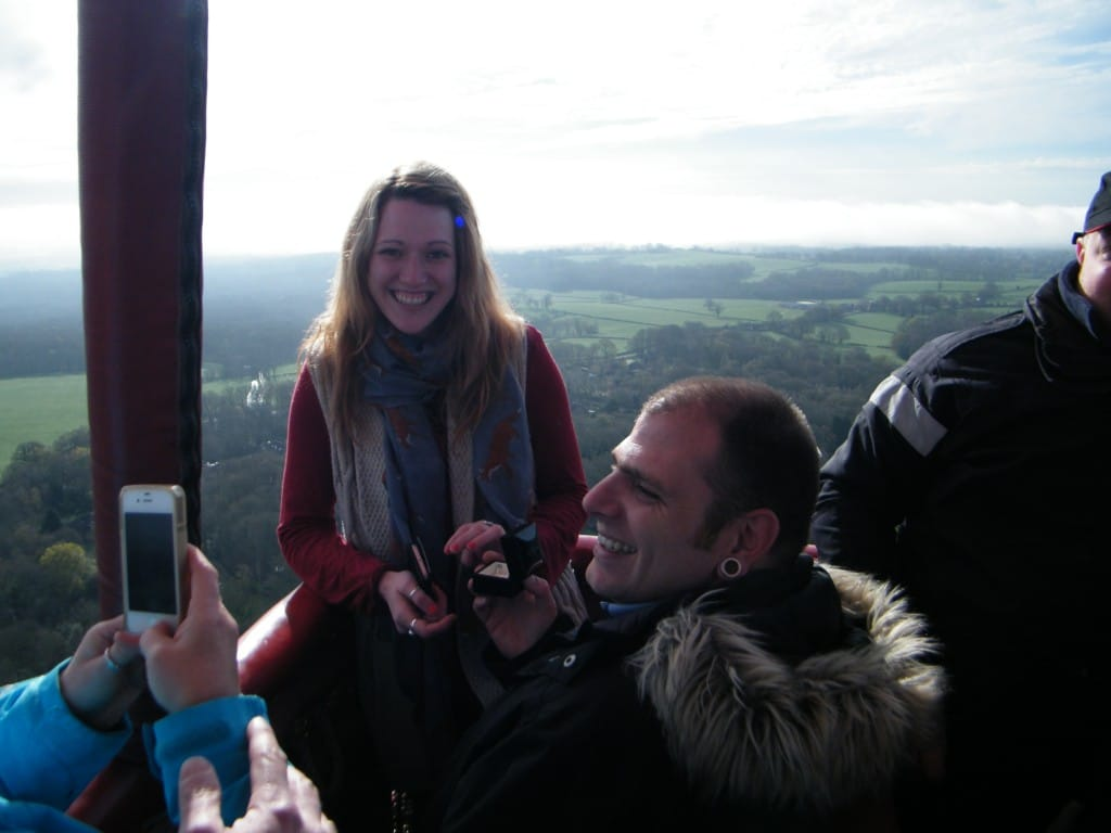 hot air balloon flight engagement
