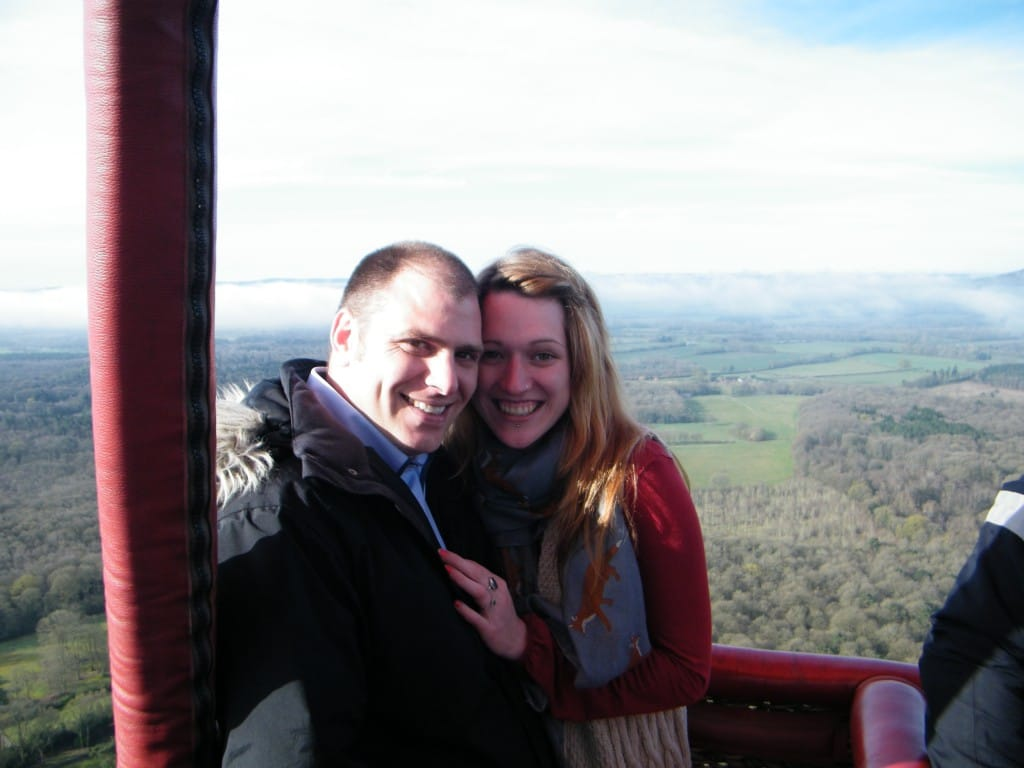 hot air balloon proposal surrey