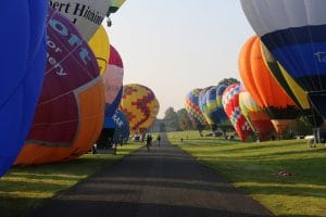 hot air balloons at longleat estate