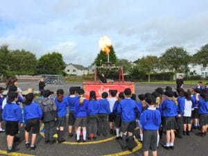 hot air balloon demonstration at primary school