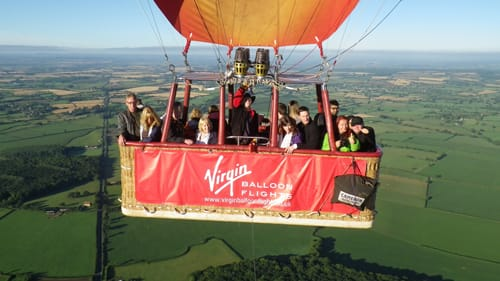 hot air balloon ride glastonbury