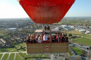 taking things higher in our Virgin Balloon Flights balloon with a wickers world (basket)