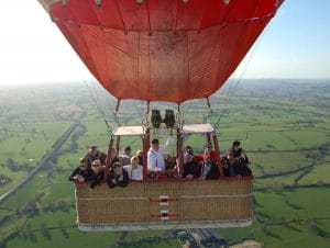 Staffordshire hot air balloon rides wickers world