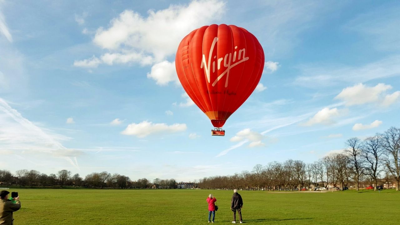 Virgin ballon flight in the UK