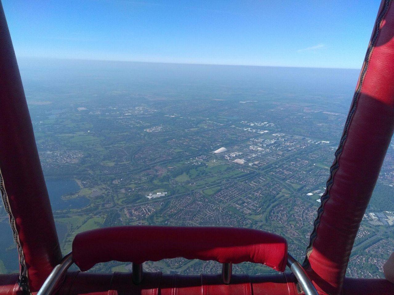 View from a Virgin hot air balloon